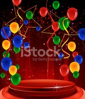 Balloon,Red,Green Color,Cel...