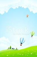Hot Air Balloon,Sky,House,F...