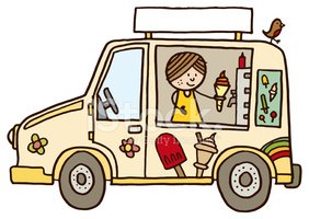 Van - Vehicle,Ice Cream Tru...