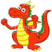 Dragon,Cartoon,Cute,Vector,...
