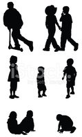 Child,Silhouette,Little Gir...