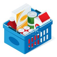 Isometric,Groceries,Shoppin...
