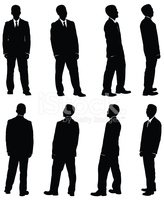 Silhouette,Men,Rear View,Pe...