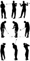 Golf,Silhouette,Male,Black ...