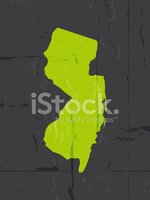 New Jersey,Silhouette,Map,D...