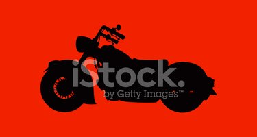 Motorcycle,Silhouette,Vecto...
