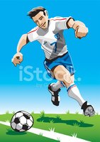 Cartoon Soccer Player wit