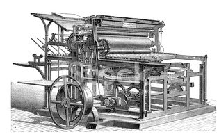 Retro Machinery Printing Press stock vectors - Clipart.me