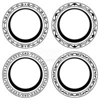 Circle,Picture Frame,Ornate...