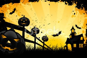 Halloween,Fence,Silhouette,...