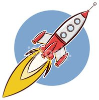 Rocket,Cartoon,Spaceship,Co...