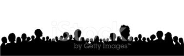 Audience,Crowd,Silhouette,S...