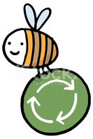 Bee boekwaarde recycling pictogram symbool