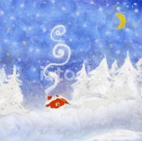Winter,Christmas,Painting,H...
