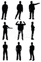 Silhouette,Men,Profile View...