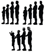 Silhouette,Little Boys,Chil...