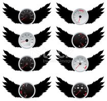 Speedometers with wings