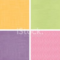 Four Fabric Textures Seamless Patterns Set