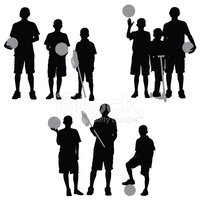 Silhouette,Child,Basketball...