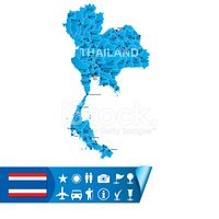 Thailand,Map,Cartography,Fl...