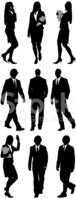 Silhouette,Walking,Business...