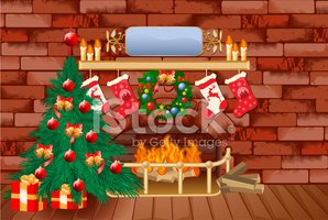 Fireplace,Christmas Tree,Il...