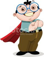 Nerd,Superhero,Cartoon,Eyeg...