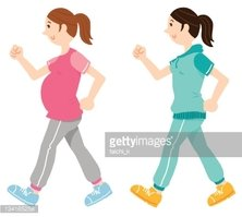 Walking Pregnant Woman Stock Vector