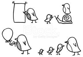 Bird,Doodle,Cartoon,Small,S...