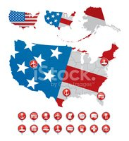 American Flag,Map,Symbol,US...