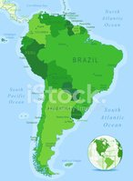 Map,South America,Cartograp...