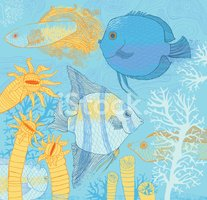 Fish,Coral,Pattern,Tropical...