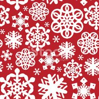 Snowflake,Red,Wrapping Pape...
