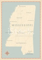 Mississippi,Map,Cartography...