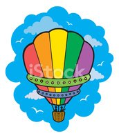 Hot Air Balloon,Mid-Air,hot...