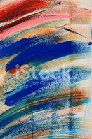 Expressive abstract painted art acrylic