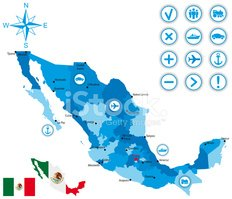 Mexico,Map,Cartography,Ilus...