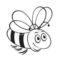 monochrome cute bee
