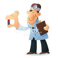 doctor gives medicine stock vectors clipart me