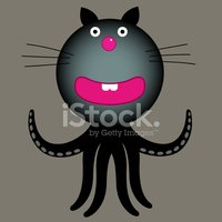 Octopus,Domestic Cat,Fun,Ca...