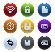 Interface Icons,Push Button...