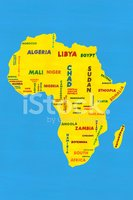 Africa,Map,Outline,Ilustrat...