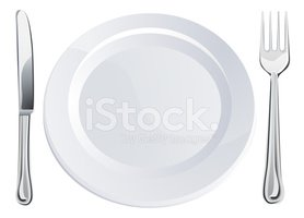 Empty Plate And Knife Fork Cutlery Stock Vectors Clipart Me