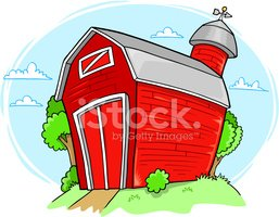 Barn,Red,Farm,Vector,Illust...