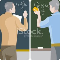 Teacher,Blackboard,Mathemat...
