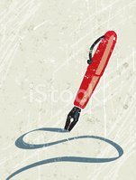Pen,Writing,Red,Fountain P...