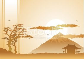 Japan,Backgrounds,Asia,Silh...