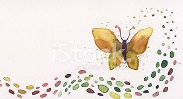 Butterfly - Insect,Watercol...