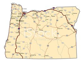 Oregon,Map,Cartography,stat...