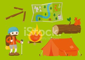 Camping,Hiking,Map,Forest,C...
